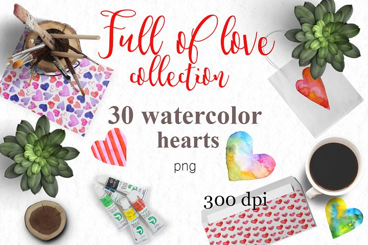 Full of love watercolor set