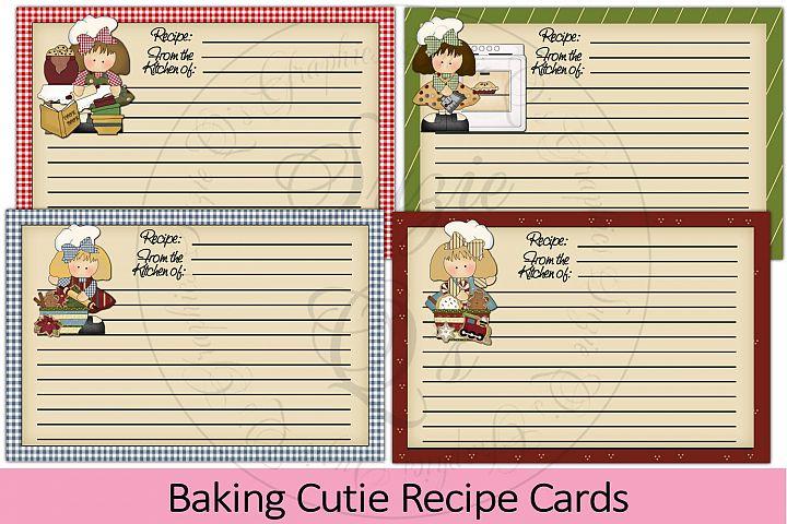 Baking Cutie Recipe Cards