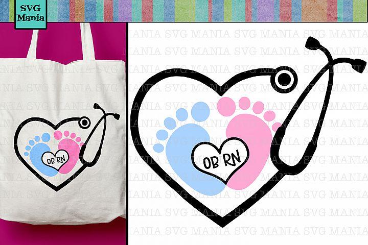 OB Nurse SVG File, Obstetric Nurse SVG Cut File, Nurse SVG