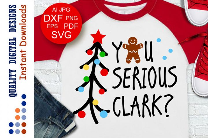 You Serious Clark svg files Christmas tree clip art Xmas