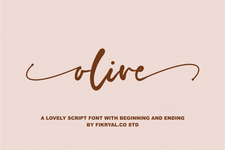 olive - a lovely script font with beginning and ending