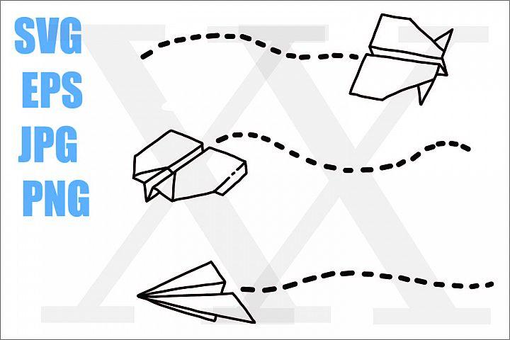 Paper Plane 3 types - SVG-EPS-JPG-PNG