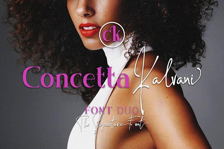 Concetta Kalvani // Signature & Serif