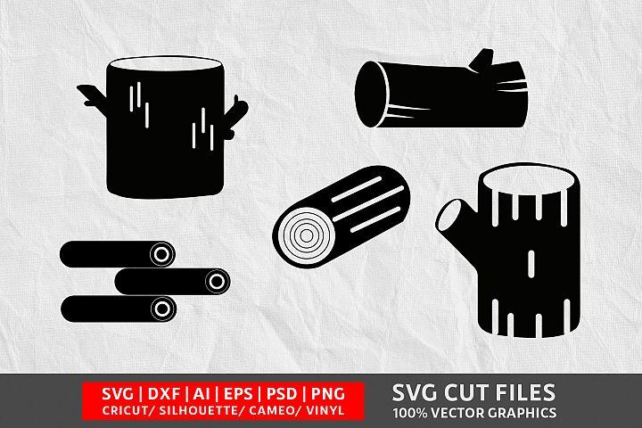 Wood log SVG Cut File