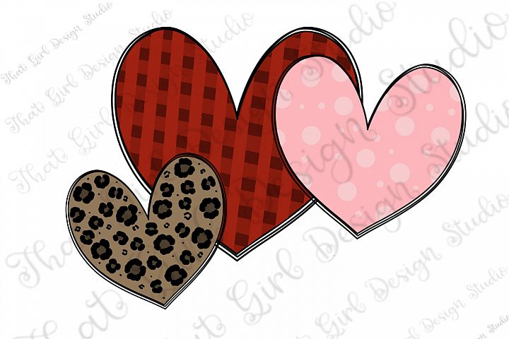 Valentines Day Patterned Hearts