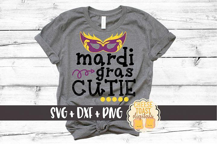 Mardi Gras Cutie - Kid Mardi Gras SVG PNG DXF File