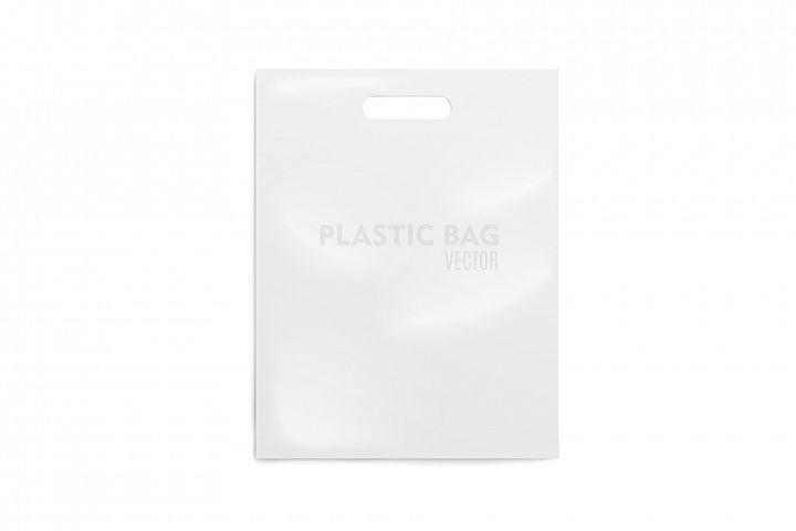 Realistic Plastic Bag. Mockup