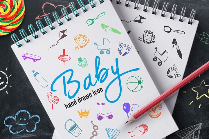 Hand Drawn Icons -Baby-