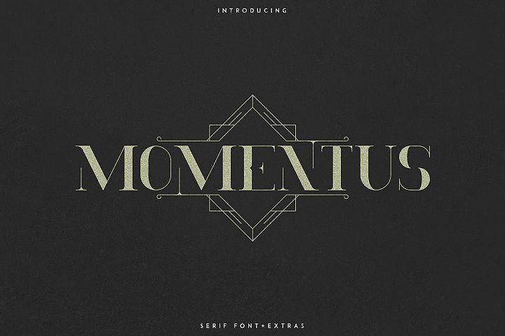 Momentus serif font-Extras