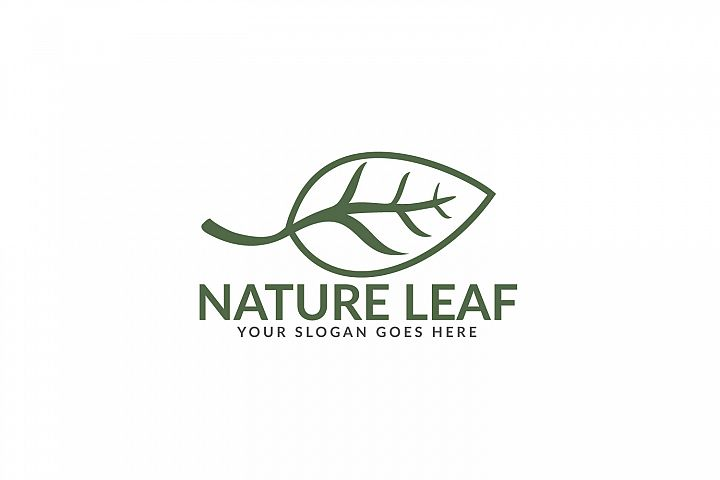 Nature Leaf logo design.