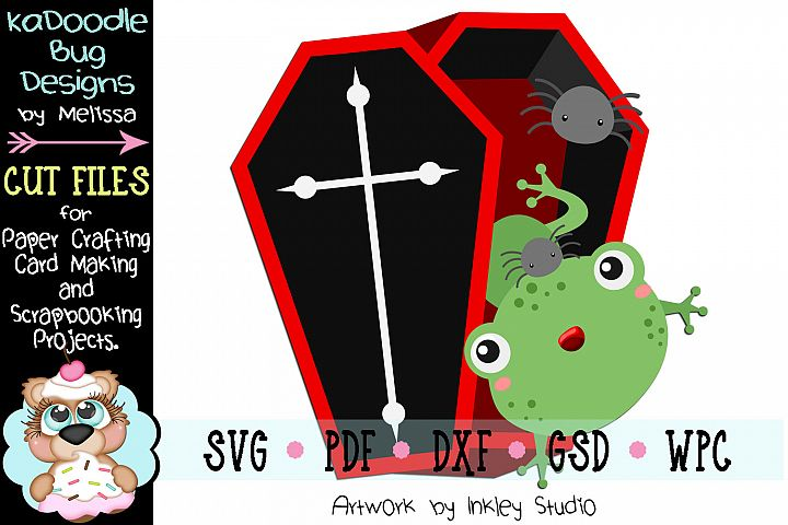 Halloween Coffin Frog Cut File - SVG PDF DXF GSD WPC