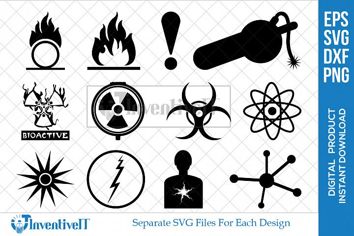 Warning Symbols | Danger Hazard | Toxic | Oxidizer | Safety