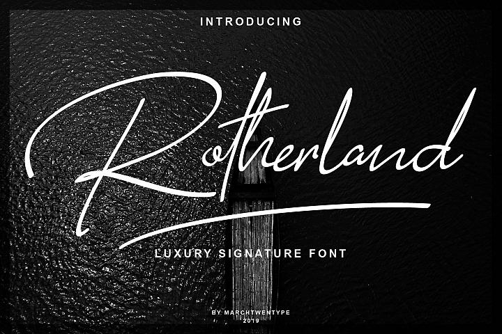 Rotherland - Luxury Signature Font