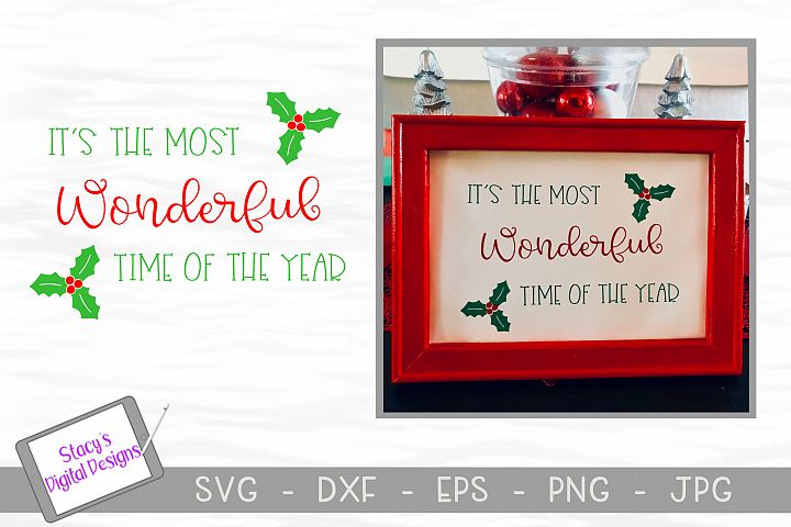 Christmas SVG - Its the most wonderful time of the year SVG