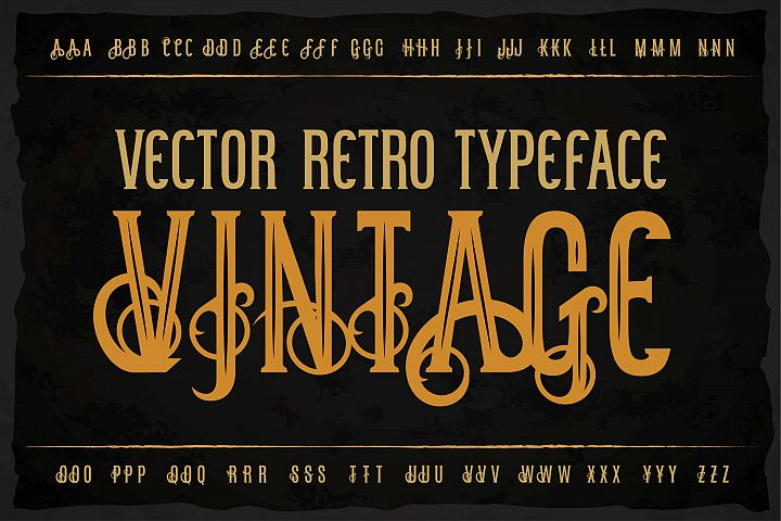 Vintage OTF label font. Uppercase only!
