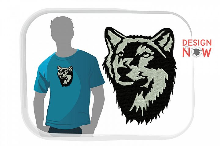Wolf Embroidery Design, Wolf Embroidery Pattern