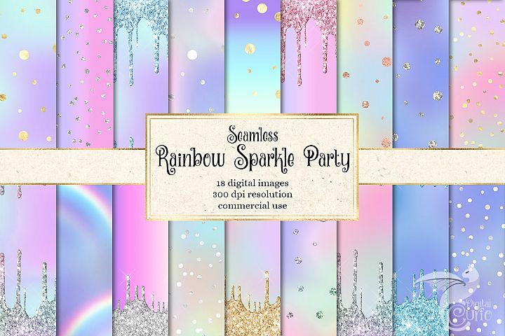 Rainbow Sparkle Party Digital Paper