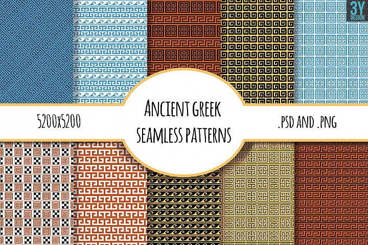 10 Ancient Greek Seamless Patterns