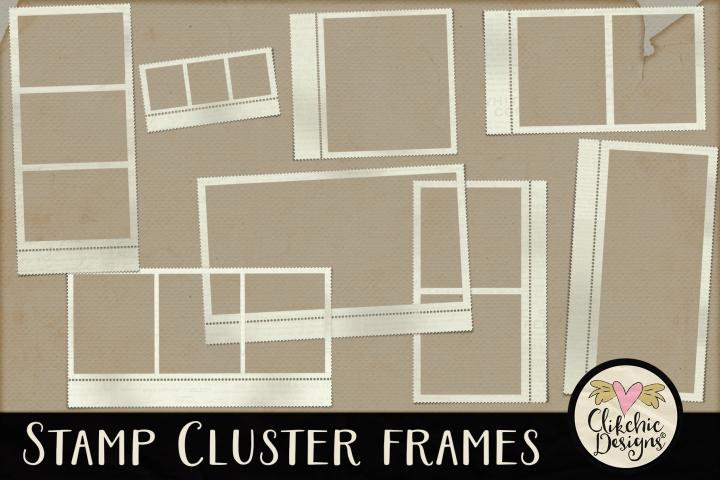 Stamp Frames - Stamp Cluster Frames Clipart