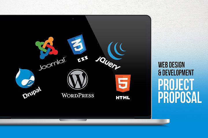 Web Design & Development Project Proposal PowerPoint Templat