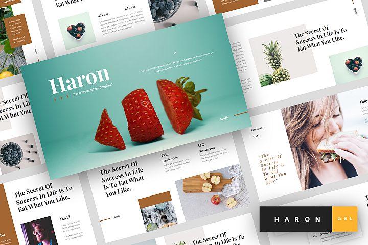 Haron - Food Google Slides Template