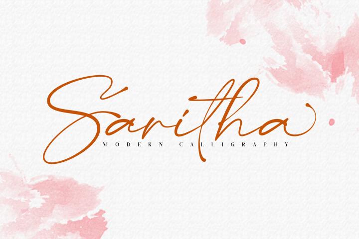 Saritha // Modern Calligraphy