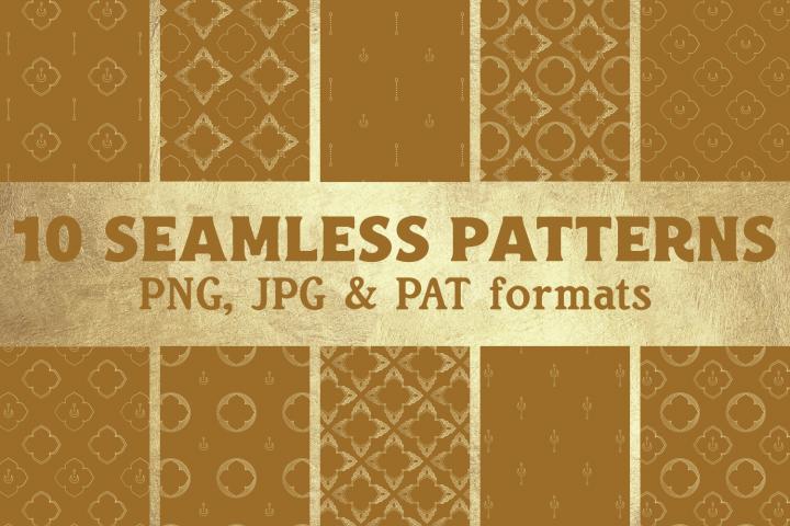Bohemian Art Deco Vintage Digital Paper - Seamless Pattern