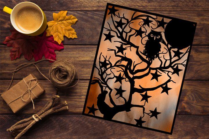 Owl Papercut Template
