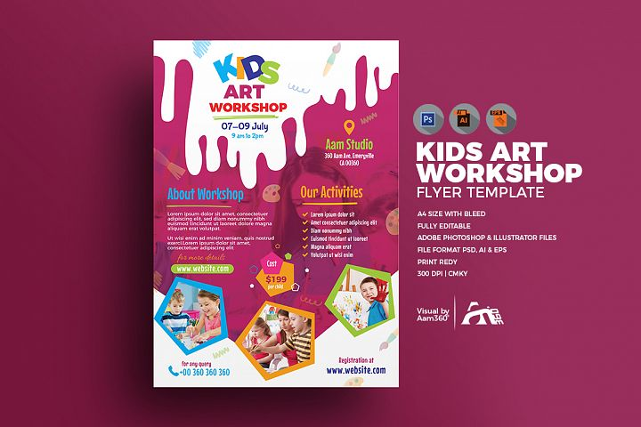 Kids Art Workshop Flyer