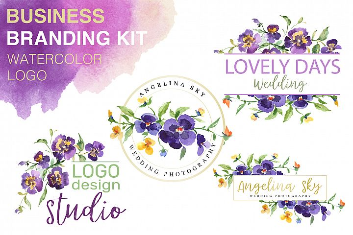 LOGO with violas Watercolor png