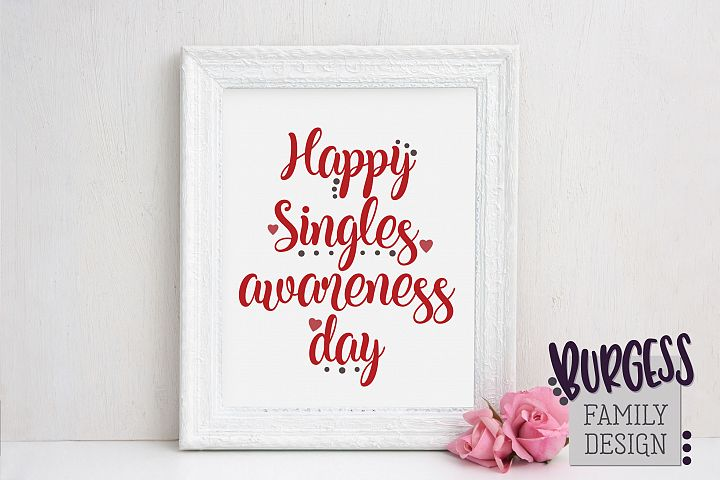 Singles awareness day | SVG DXF EPS PNG