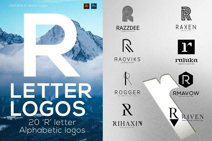 R Letter Alphabetic Logos