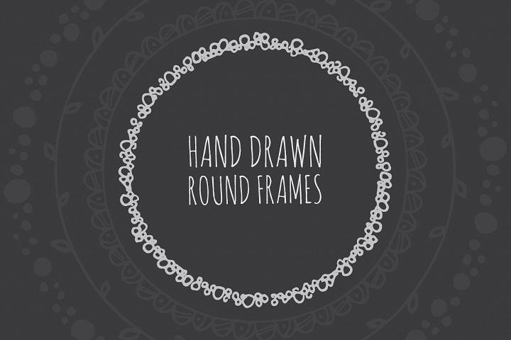 90 Hand Drawn Decorative Round Frames