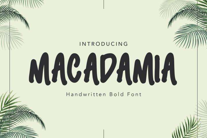 Macadamia Handwritten Font