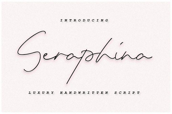 Seraphina Script Font - Bold&Regular