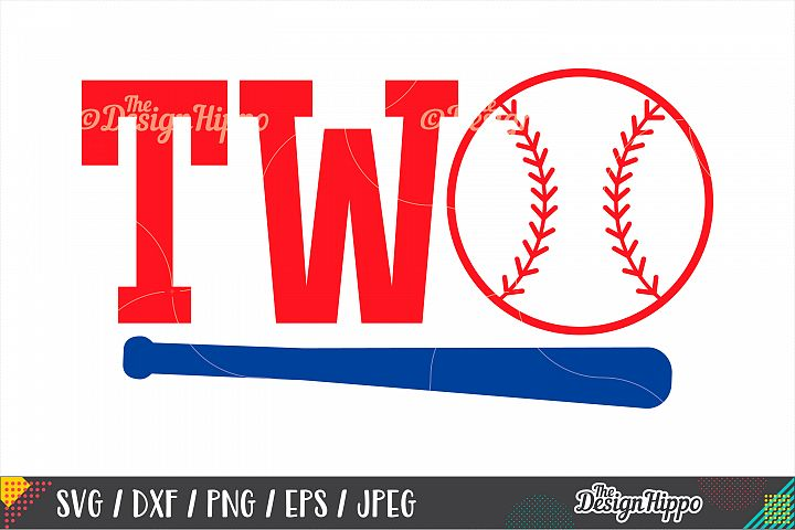 Two Baseball, Second Birthday SVG DXF PNG EPS Cutting Files