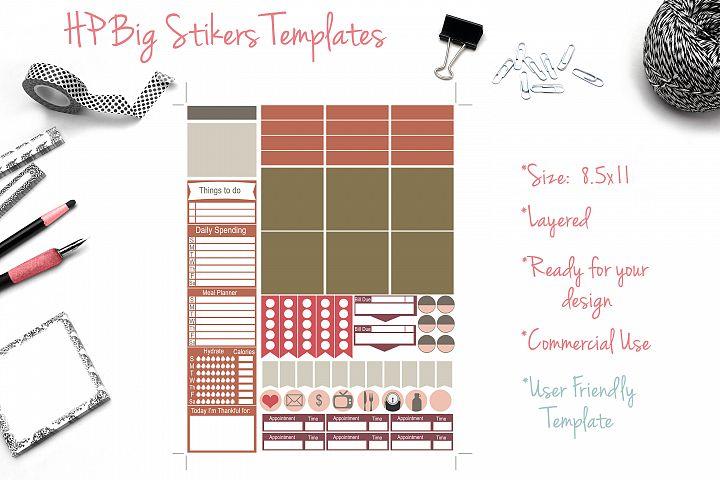 HP Big Sticker Templates
