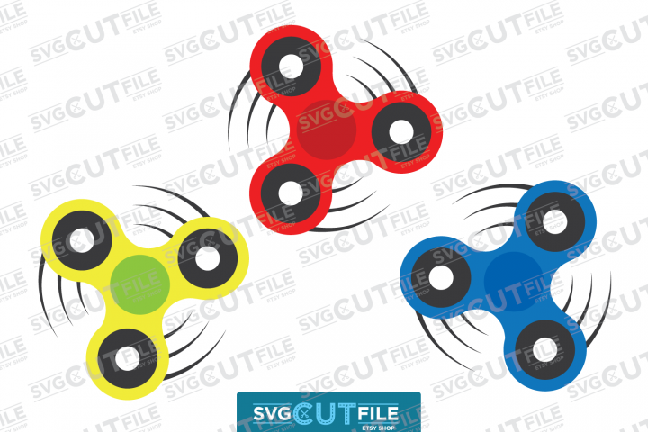 Fidget spinner svg bundle - Boy toy - Hand spin master