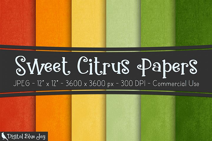 Digital Paper Textured Backgrounds - Sweet Citrus