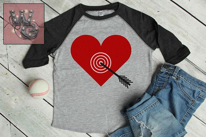 Valentine Bullseye Heart SVG DFX PNG EPS Commercial