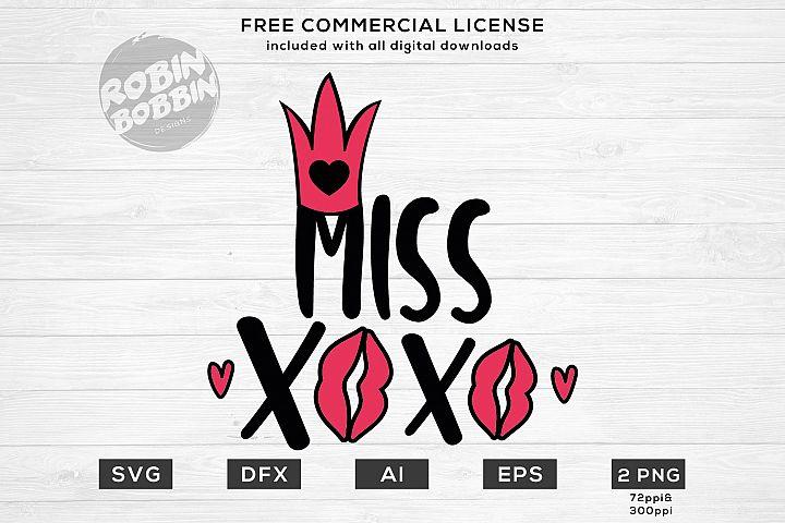 Miss XOXO - Valentines Day SVG File