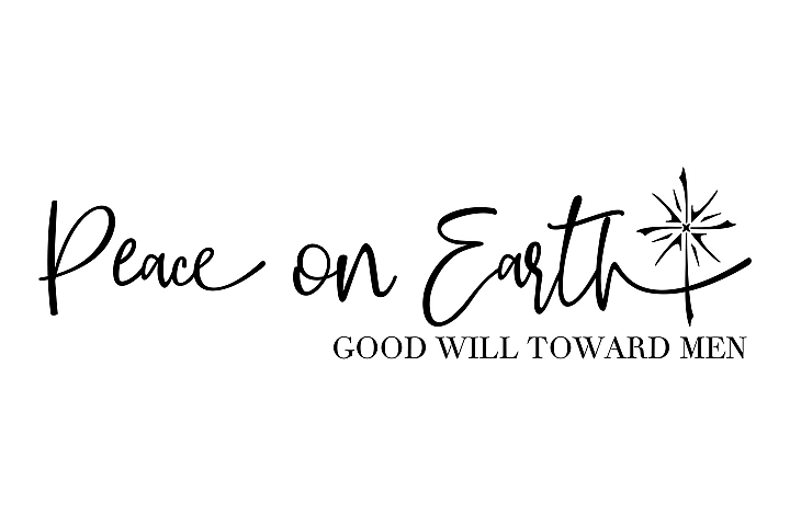 Peace on Earth - Christmas Star - SVG EPS PNG example 2