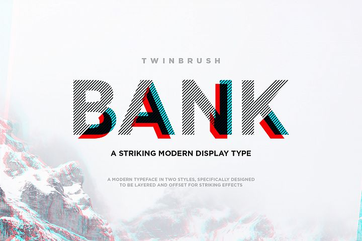 Bank Display Font