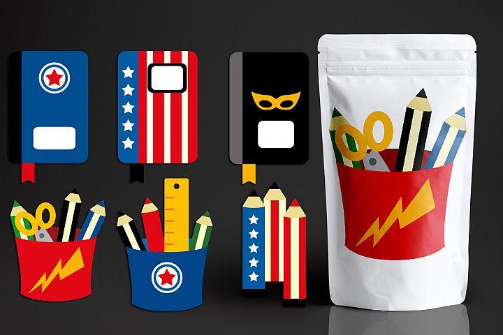 Superhero School Supplies Graphics
