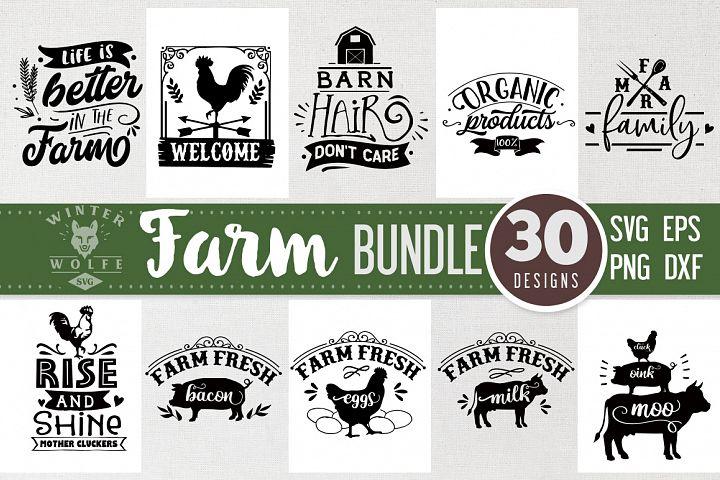 Farm Bundle 30 designs SVG EPS DXF PNG
