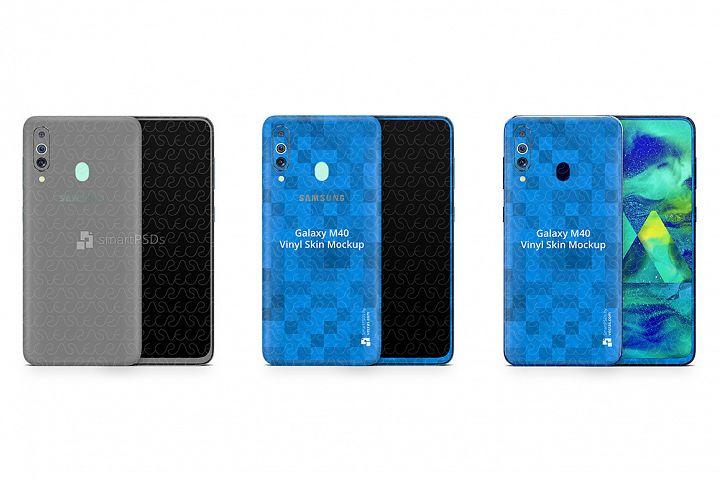 Samsung Galaxy M40 Vinyl Skin Design Mockup 2019