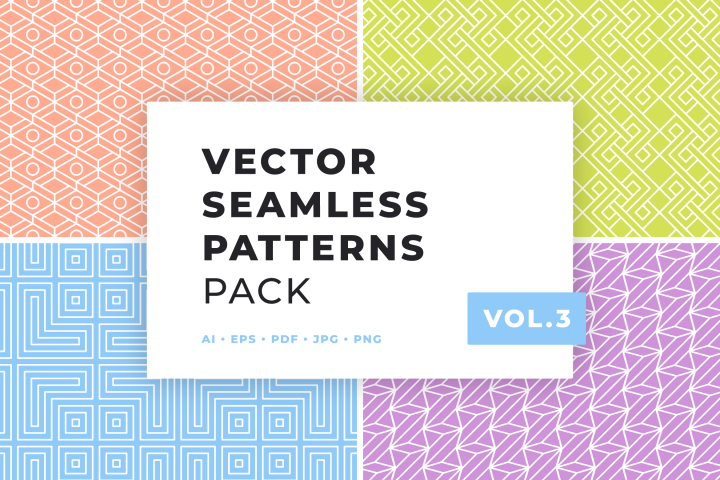 Vector Seamless Patterns Pack Vol.3