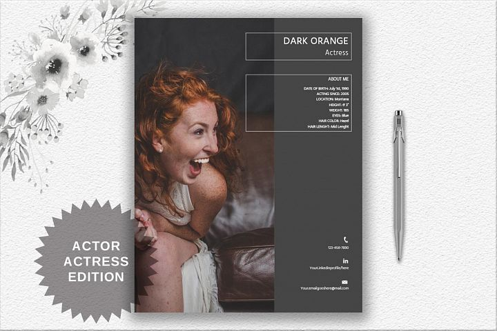 Creative Resume Template | Actor/Actress | Graphic Designer