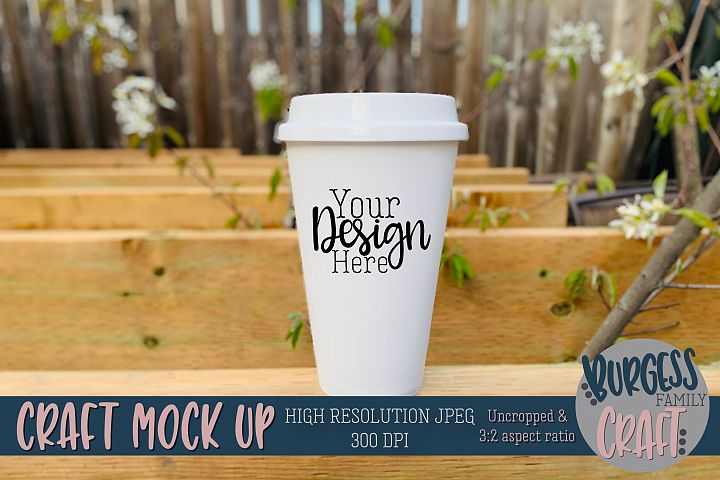 Travel mug outdoor Craft mock up|High Resolution JPEG