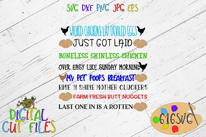 Egg Container Sayings SVG, DXF, Ai, PNG